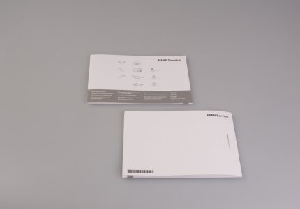Service Booklet front and back