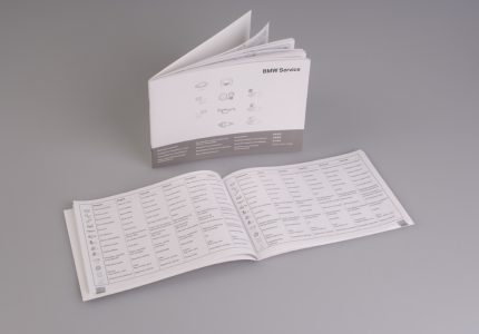 Service Booklet language overview