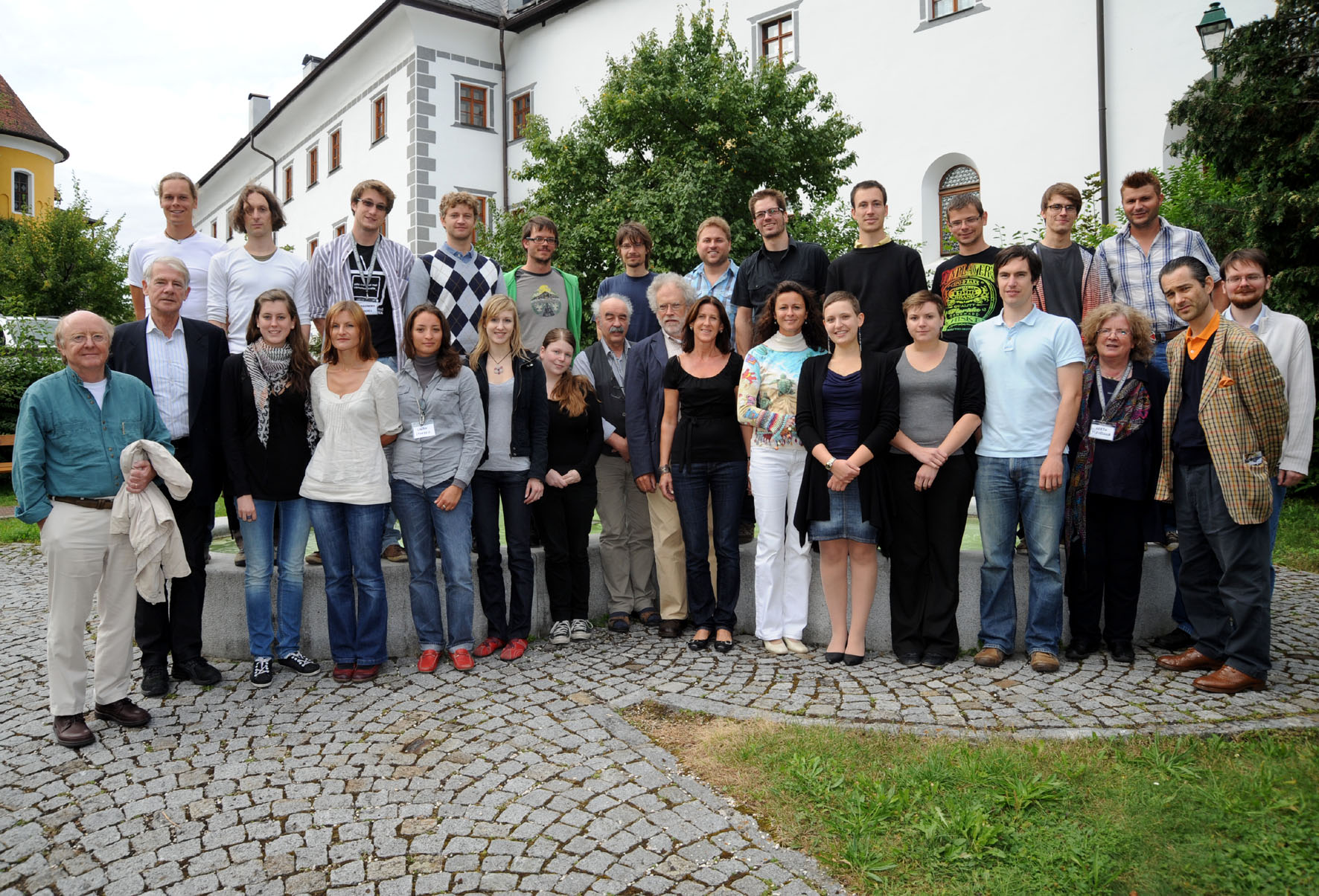 "Invited participants of the workshop ""Die Zeit und das Denken""."
