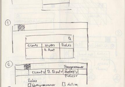 Screenflow of ACP breadcrumb navigation